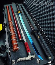 I take the sword cane you take other things Zombie Weapons, Ninja Weapons, Anime Weapons, Fantasy Weapons, Weapons Guns, Pretty Knives, Cool Knives, Swords And Daggers, Knives And Swords