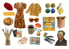 """It's The Sunshine"" by barbiedollgrunge ❤ liked on Polyvore featuring Yves Saint Laurent, FRUIT, Betmar, Topshop and vintage"