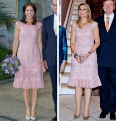 royalroaster: Crown Princess Mary / Queen Maxima in Valentino lace dress