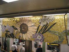 NYC Subway tile art