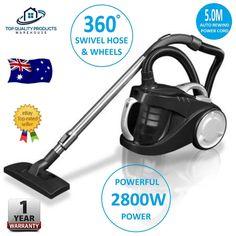 2800W Bagless Cyclone Cyclonic Vacuum Cleaner HEPA Filtration System Floor Brush