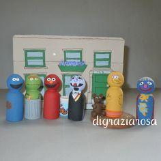 Sesame Street Peg Dolls