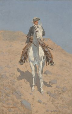 Sid Richardson Museum: Self-Portrait On A Horse by Frederic Remington