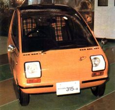 http://chicerman.com  carsthatnevermadeit:  Nissan 315X 1970. A tiny electric car with seating for two passengers and a single motor powering the rear wheels the 315X was capable of achieving 56mph  #cars