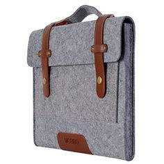 Mosiso 12.9 iPad Pro / 13.3 Inch MacBook Air / MacBook Pro Retina Felt Shoulder Bag Briefcase Laptop Bag Tablet PC Carrying Case, Compatible with Most 11-Inch Ultrabook Netbook, Gray