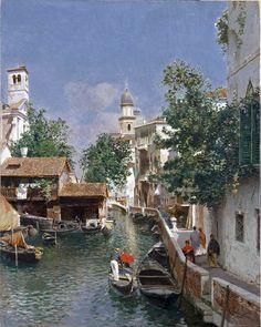 Gustavo Augusto Rubens Santoro (1859-1941) Venezia