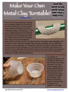 Make Your Own Metal Clay Turntable (Lazy Susan) by Wanaree