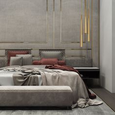 Interior design inspirations for your luxury bedroom lighting. The luxury lamp you need for you interior design project Luxury Bedroom Design, Master Bedroom Design, Luxury Home Decor, Home Decor Bedroom, Bedroom Ideas, Bedroom Inspiration, Bedroom Furniture, Bedroom Setup, Comfy Bedroom