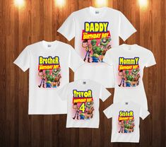 toy story Birthday long sleeve and Short Sleeve Shirt Custom personalized shirts for all family, by TeezGallery on Etsy https://www.etsy.com/listing/473214283/toy-story-birthday-long-sleeve-and-short
