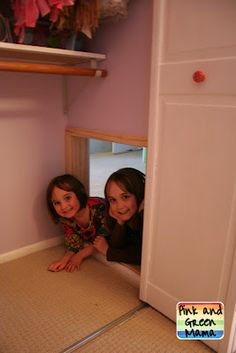 Secret Sister Hideout - Closet Tunnel Between Children's Rooms