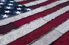 DIY American Flag Quilt Instructions