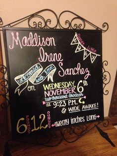 Welcome home baby chalkboard this would be so cute for her to come home to take a picture next to :) @Leanna King