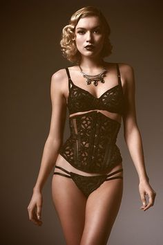 8b6aeecd97 Dottie s Delights AW13 -  Sweet Gwendoline  Collection Black Lingerie