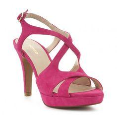 Sandalia tacón piel FOSCO Sandals, Shoes, Fashion, Flat Sandals, Fur, Women, Moda, Shoes Sandals, Zapatos