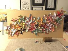 Pinwheel wall - birthday, wedding photo booth, backdrop