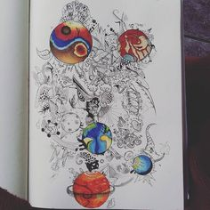 provocative-planet-pics-please.tumblr.com #planets #finished #red #blue #orange #yinyang #spaceman #pinkfloyd #illuminati #moon #earth #art #eyes #doodles #cartoon #copicmarker #fineliner by brian_the_artist_2 https://www.instagram.com/p/BCkv-t2CYaS/