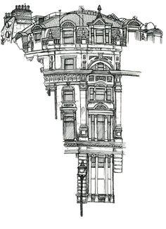Via behance building drawing, building art, building sketch, detail art, . Building Drawing, Building Sketch, Building Art, Architecture Drawings, Sketches Of Buildings, Buildings Artwork, Architecture Artists, A Level Art, Art Drawings Sketches