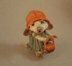 Miniature Fancy Lady Mouse hand made by Artist Aleah Klay | eBay