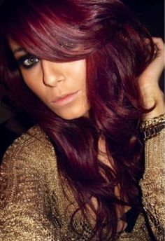 Burgandry red hair color