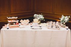 Who doesn't love a dessert table? This mini dessert display was so cute for the couple to incorporate some of their favorite sweet snacks in lieu of cake! | Villa Siena | Poppyseed Photography | #Villasiena #weddingvenue #gilbertarizona #arizonaweddings #arizonaweddingvenue #dessettable #receptionideas Wedding Reception, Wedding Venues, Mini Desserts, Siena, Dessert Table, Display, Couple, Snacks, Cakes