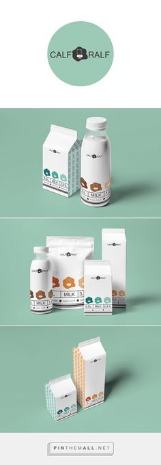 Calf Ralf milk y Katya Oposhnyanskaya. Pin curate by #SFields99 #packaging #design