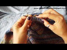 Ako štrikovať sveter vcelku - 5.časť - Golier - YouTube