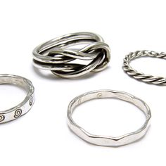 Free jewelry making video tutorial! Use Fine Silver wire to make rings! In this class, learn basic skills like texturing, stamping, twisting, knotting and proper ring sizing. T...