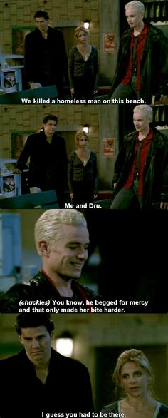 """This is one of my favorite scenes ever. And the look on Angels face """"I made this monster"""""""