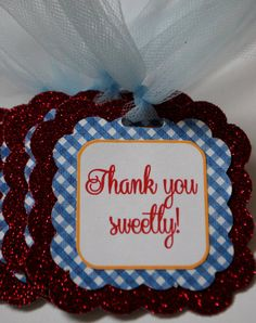 Set of 10 Favor Tags - Customizable.  Coordinating Decor Available.  www.swankketsy.com