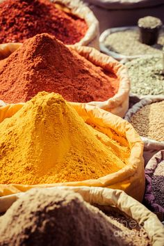 India Poster featuring the photograph Indian Colored Spices At Local Market. by Mariusz Prusaczyk