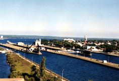 View of Soo Locks on Michigan side. In 2007, Highway 17 bypass was completed with a four lane at-grade expressway, to bypass a number of small communities on the St Mary's River, from the east end of Sault Ste. Marie to east of Echo Bay. T