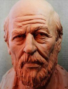 Man bust study by ~glaucolonghi (Glauco Longhi) on deviantART Human Sculpture, Sculpture Head, Sculptures Céramiques, Traditional Sculptures, Tatoo Art, 3d Prints, Gravure, Clay Art, Traditional Art