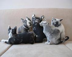 Items similar to XL Custom pet pillow photo cushion Extra Large on Etsy