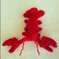 """Crocheted Amigurumi Crawdad ~ WonkyWonderful.com"" #Amigurumi  #crochet"