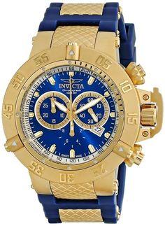4169c70e1b2 relógio invicta subaqua noma iii dourado 5515 Relógios Masculinos