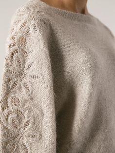 Ermanno Scervino Lace Panel Sweater - Spinnaker 141 - Farfetch.com