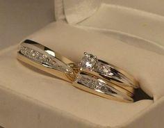 anillos completos matrimonio y compromiso!