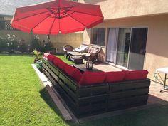 Repurpose pallet furniture