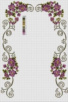 This Pin was discovered by Hül Cross Stitch Rose, Cross Stitch Borders, Modern Cross Stitch, Cross Stitch Flowers, Cross Stitch Designs, Cross Stitching, Cross Stitch Embroidery, Cross Stitch Patterns, Flower Coloring Pages