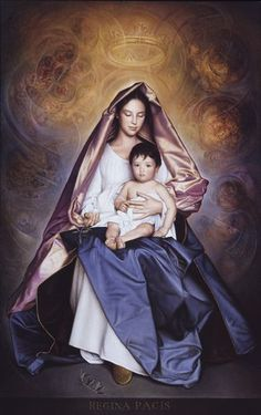 Beautiful innocent Mary and helpless babe Jesus Religious Pictures, Jesus Pictures, Religious Icons, Religious Art, Mother Of Christ, Blessed Mother Mary, Mother Art, Madonna Art, Madonna And Child