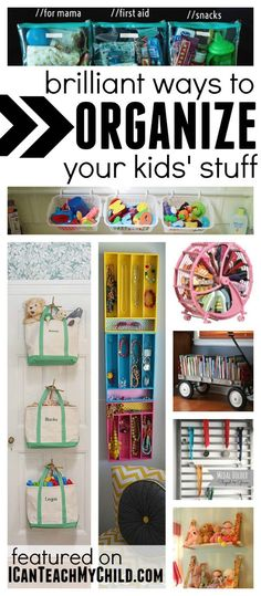 Brilliant Ways to Organize Your Kids Stuff:  Organize kid bedrooms, organize toys in the living room, and organize on the go! (scheduled via http://www.tailwindapp.com?utm_source=pinterest&utm_medium=twpin&utm_content=post477167&utm_campaign=scheduler_attribution)