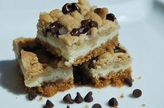 Cookie Dough Cheesecake bars are a delicious bite-size dessert that is perfect for any gathering!