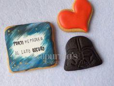 Star Wars decorated cookies Valentine's day Cupcakes, Decorated Cookies, Cookie Decorating, Valentines Day, Bakery, Star Wars, Stars, Valentine's Day Diy, Velentine Day