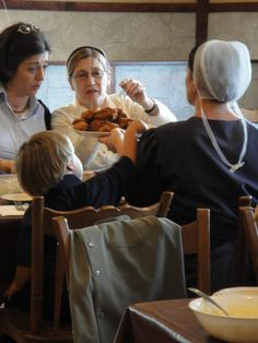 "Hershey Farm Restaurant and Motel have a ""dinner with amish family"" nights. Lancaster Pennsylvania, Lancaster County, Amish Country, Country Life, Amish Town, Farm Restaurant, Amish Family, Amish Culture, Amish Community"