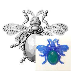 #3dmodels #brooch #bug #jewellery #saintpetersburg #russia  #wax #ferris #roland MDX-650  #gold #diamond #pinterest #maxarthurstudio #art #tradition