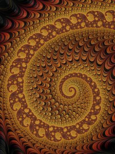 Golden and brown luxe fractal spiral. Available as poster, framed fine art print, metal, acrylic or canvas print. Matthias Hauser fractal-art-prints.com - Fractal Art for your Home Decor and Interior Design needs.