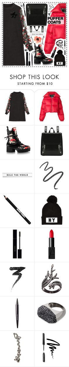 """Rule The world!"" by hennie-henne ❤ liked on Polyvore featuring MISBHV, Maybelline, Manic Panic NYC, River Island, Gucci, NARS Cosmetics, Lord & Taylor, Laura Mercier, Swarovski and STONE"