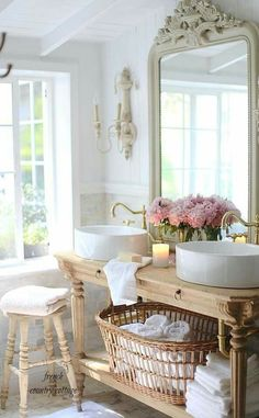 Lovely french country bathroom vanity