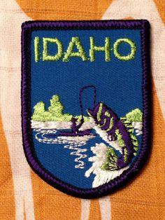 Idaho Vintage Travel Patch by Voyager by HeydayRetroMart on Etsy, $7.00