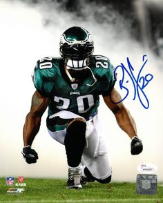 Featured is a signed Brian Dawkins Philadelphia Eagles photo. This photo is  hand signed by Brian Dawkins and witnessed by a JSA representative. a94affdb8
